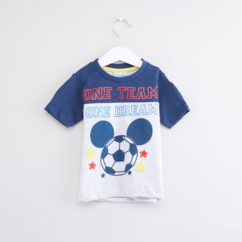 Mickey Mouse Printed Round Neck T-Shirt