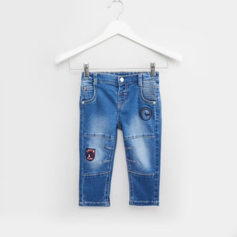 Stitch Detail Jeans with Pockets and Belt Loops