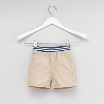 Textured Shorts with Pocket Detail and Elasticated Waistband