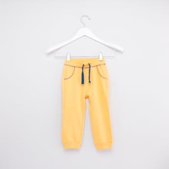 Full Length Plain Jog Pants with Elasticised Waistband and Drawstring