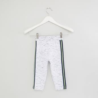 Melange Full Length Track Pants with Tape Detail