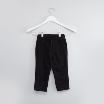 Solid Jeans with Elasticated Drawstring Waistband