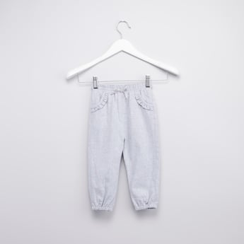 Textured Jog Pants with Elasticised Waistband