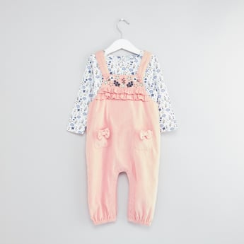 Printed Top with Dungarees
