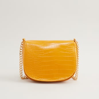 Textured Crossbody Sling Bag