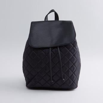 حقيبة ظهر مبطنة مع أحزمة بطبعات