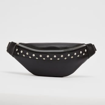 Embellished Waist Bag with Zip Closure