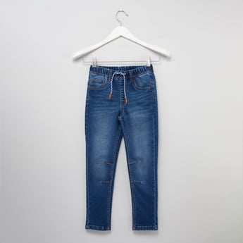 Denim Jegging with Drawstring Waistband