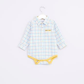 Chequered Long Sleeves Bodysuit