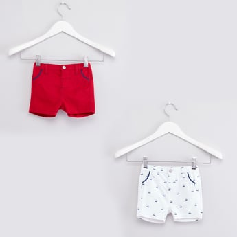Set of 2 - Assorted Shorts with Belt Loops