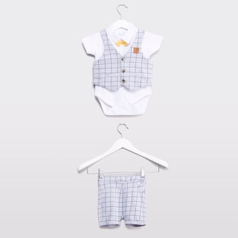 Checked 3-Piece Suit Set