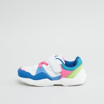 Low Top Sneakers with Hook and Loop Closure