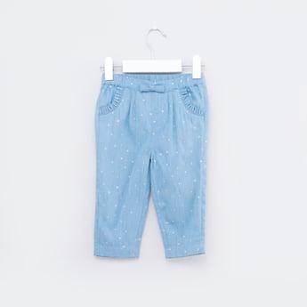 بنطال جينز طويل بإغلاق مطّاطي
