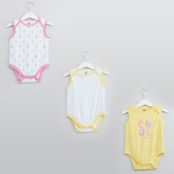 Set of 3 - Printed Bodysuit