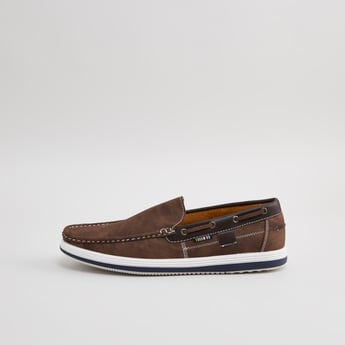Stitch Detail Slip-On Loafers