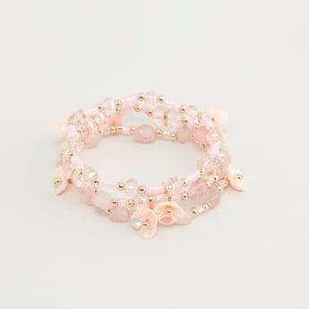 Set of 3 - Beaded Bracelets with Applique Detail