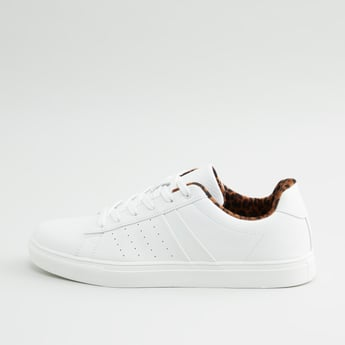 Solid Sneakers with Lace-Up Closure