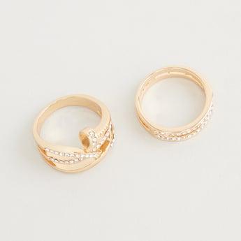 Set of 2 - Studded Finger Rings
