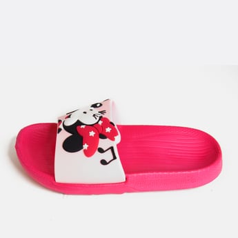 Minnie Mouse Textured Slides with Vamp Band