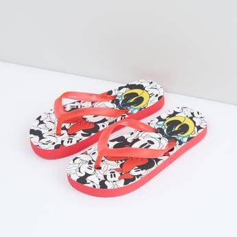 Minnie Mouse Printed Flip Flops