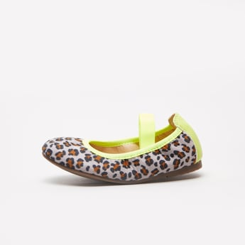 Animal Print Mary Jane Shoes with Elastic Closure