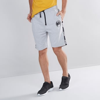 Batman Printed Shorts with Pocket Detail