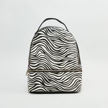 حقيبة ظهر بحمّالات كتف قابلة للتعديل وطبعات