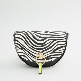 Animal Print Crossbody Bag with Adjustable Sling Strap
