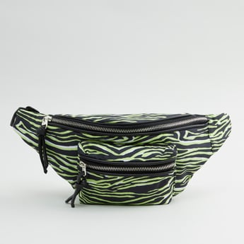 Animal Printed Fanny Pack with Zip Closure