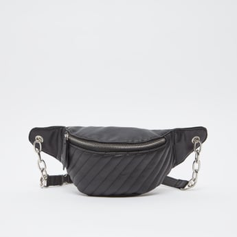 Textured Fanny Pack with Zip Closure