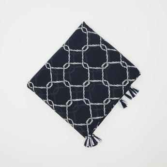 Textured Scarf with Tassel Detail