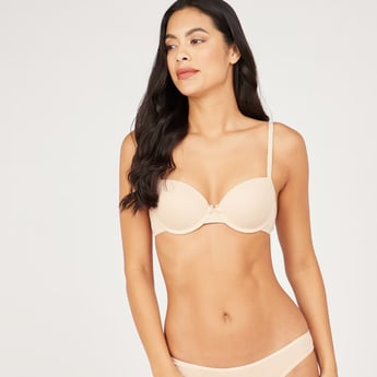 Padded T-Shirt Bra with Hook and Eye Closure
