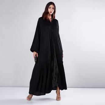 Pleated Abaya with Embellishment