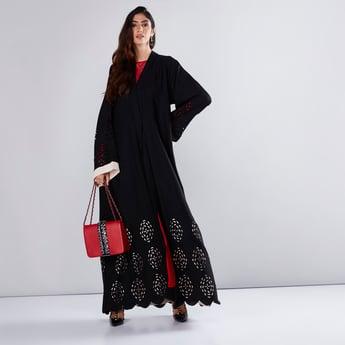 Lasercut Abaya with Long Sleeves