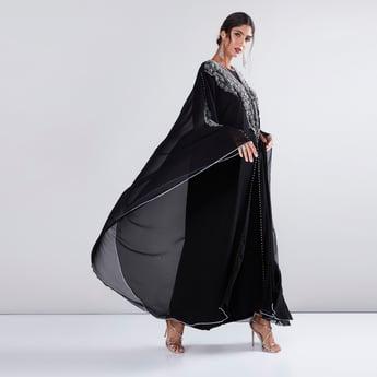 Embellished Asymmetric Abaya