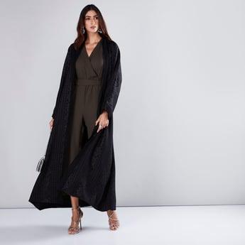 Straight Cut Textured Abaya