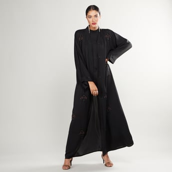Embroidered Full Length Abaya with Long Sleeves