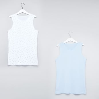 Lace Detail Sleeveless Vest - Set of 2