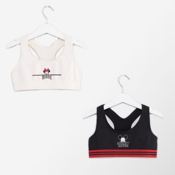 Set of 2 - Mickey Mouse and Minnie Mouse Printed Sports Bra