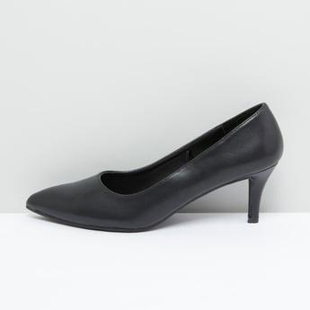 Textured Mid Heel Stilettos