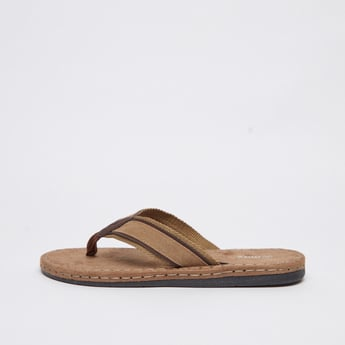 Textured Slip-On Sandals with Wide Straps