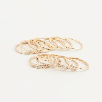 Set of 12 - Embellished Rings