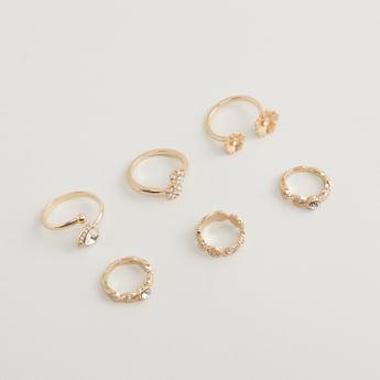Set of 6 - Assorted Studded Finger Rings