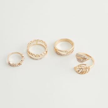 Set of 4 - Embellished Ring