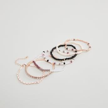 Set of 7 - Embellished Beaded Bracelets
