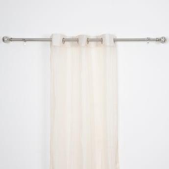 2-Piece Textured Sheer Curtain Set - 240x135 cms