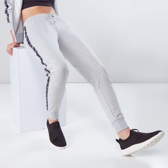 Pocket Detail Track Pants with Printed Side Tape Detail