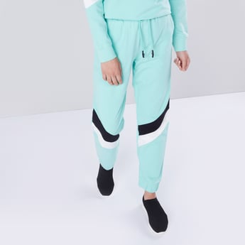 Full Length Track Pants with Cuffs and Drawstring Closure