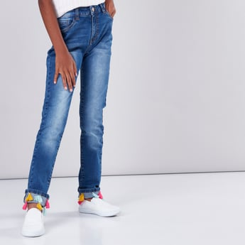 Tassel and Pocket Detail Jeans