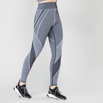 Seamless High-Waist Leggings with Jacquard Print